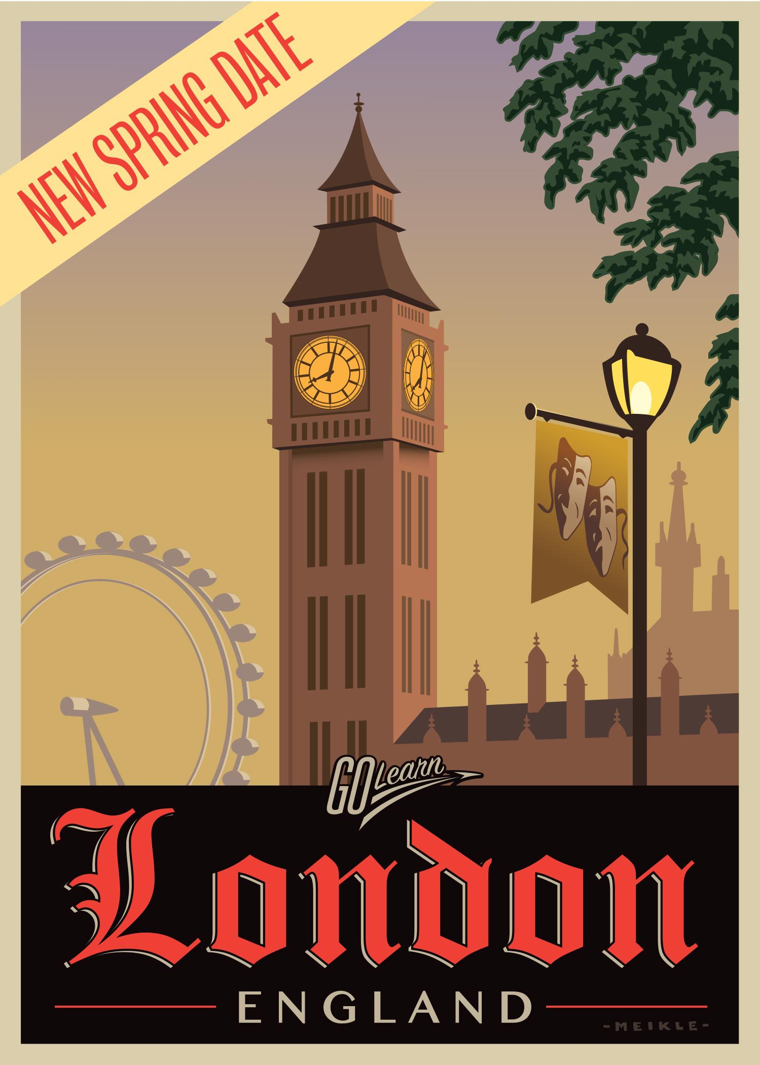 London on Stage - Spring 2022 Go Learn poster
