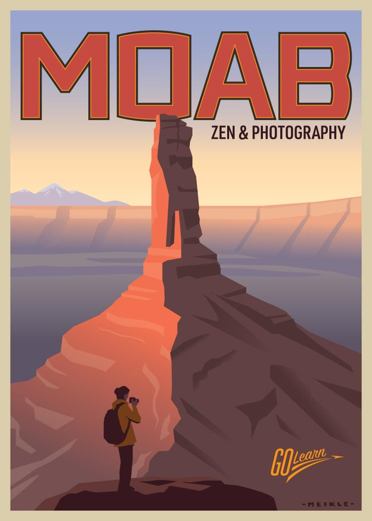 Moab Photography Go Learn poster