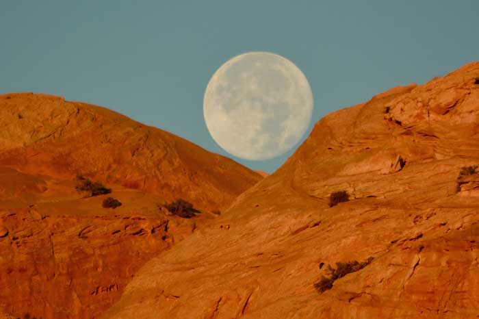 Moab Moon over Sandstone